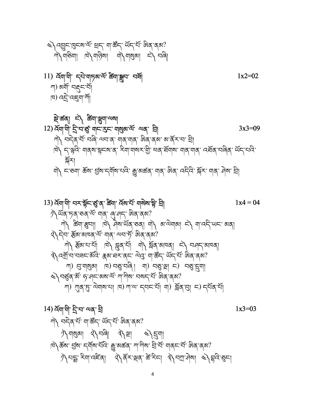 CBSE Sample Papers 2020 for Class 12 – Bhutia