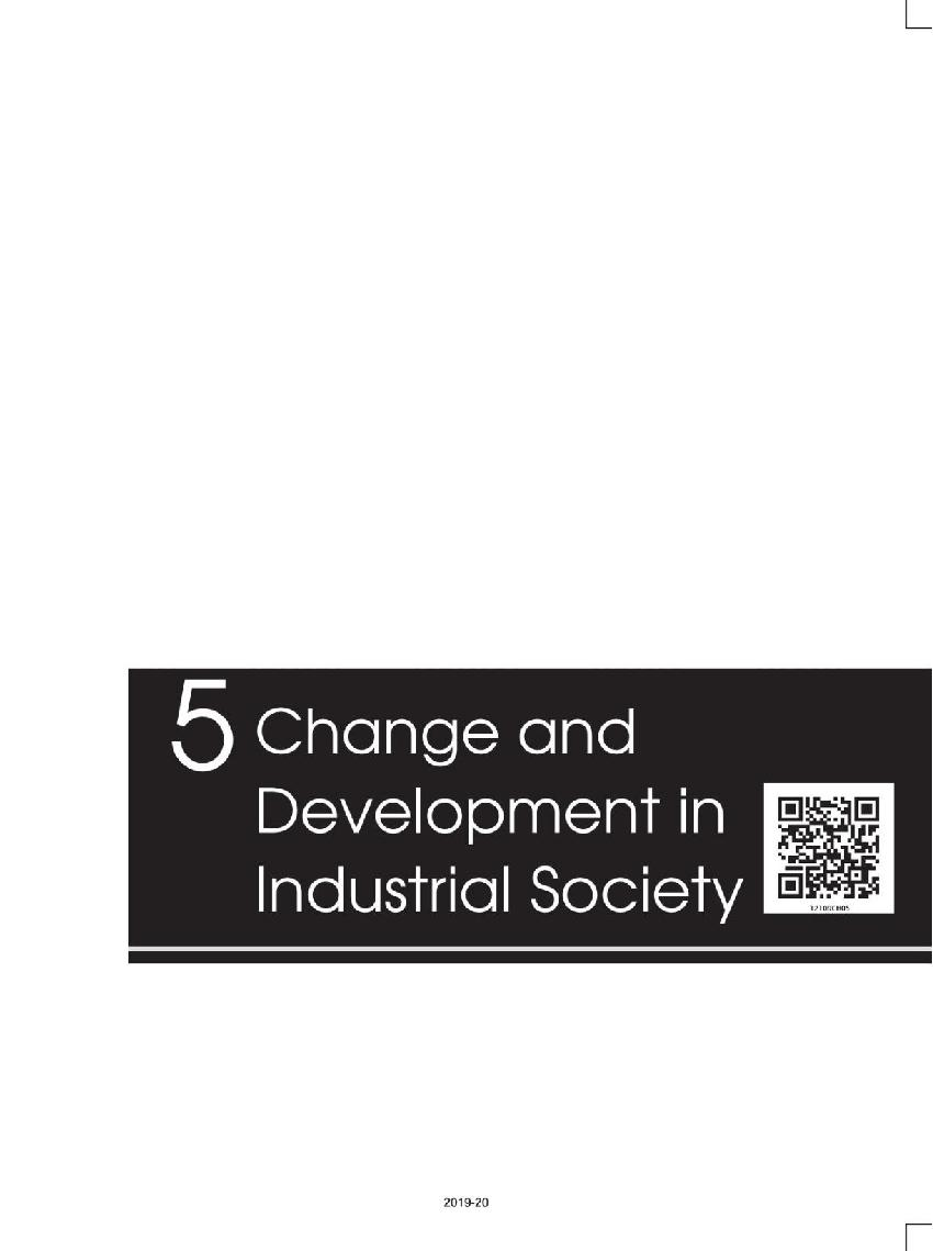 NCERT Book Class 12 Sociology Social Change and Development in India Chapter 5 Change and Development in Industrial Society