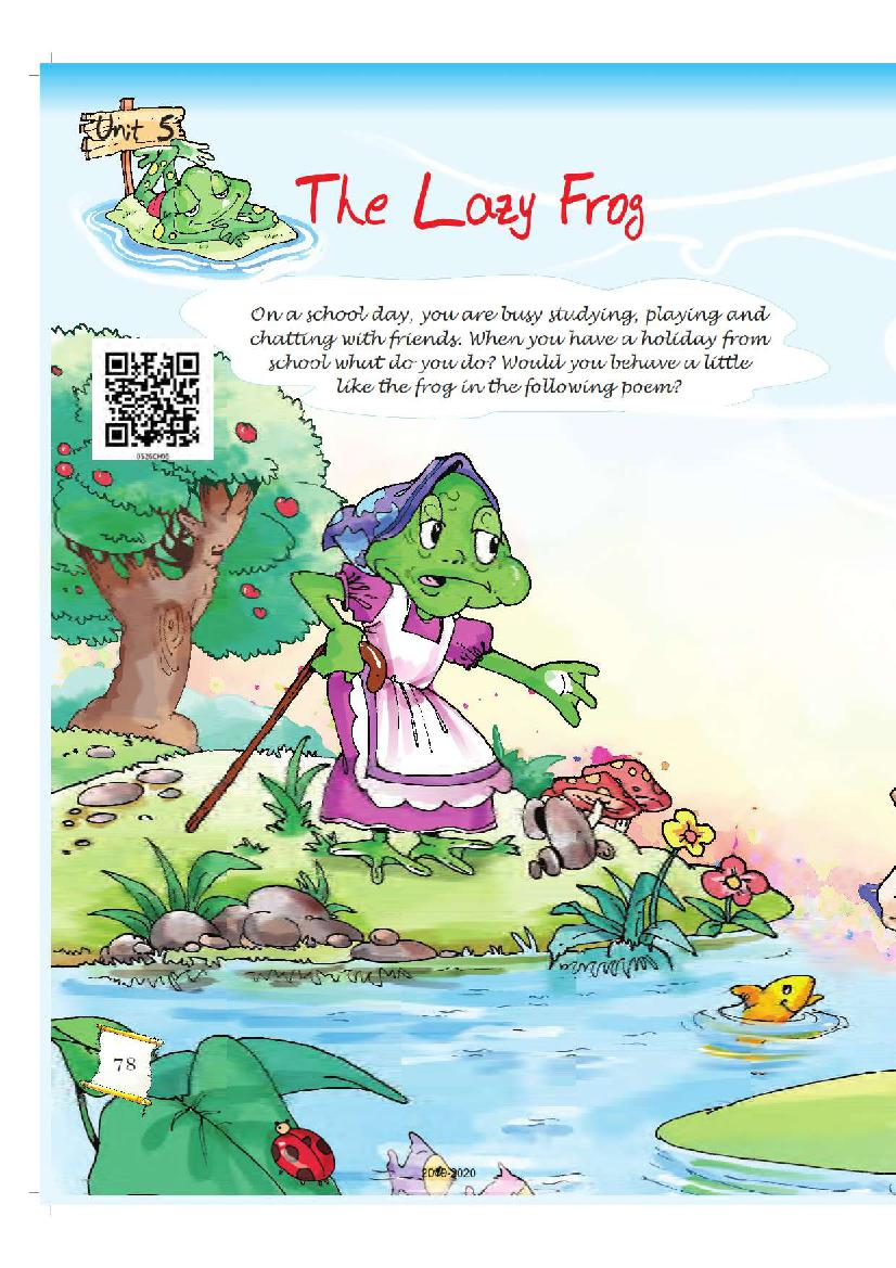 NCERT Book Class 5 English Chapter 5 The Lazy Frog