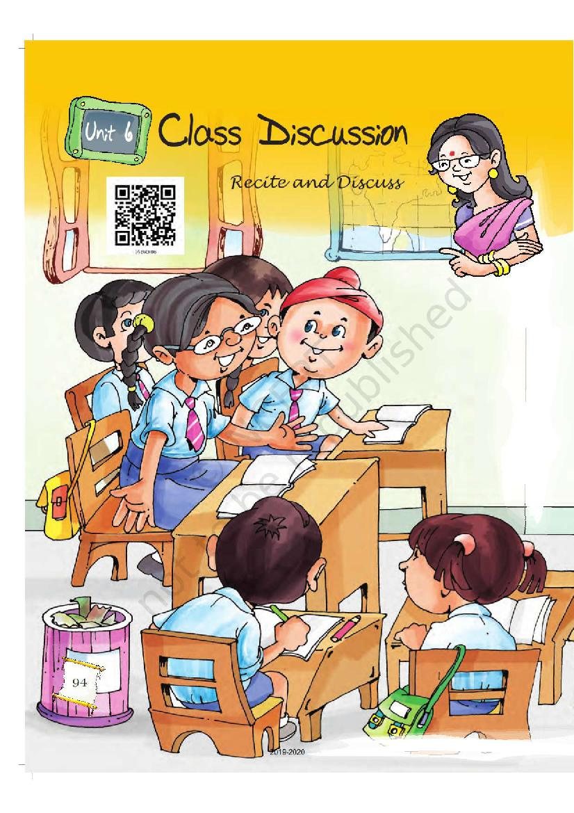 NCERT Book Class 5 English Chapter 6 Class Discussion