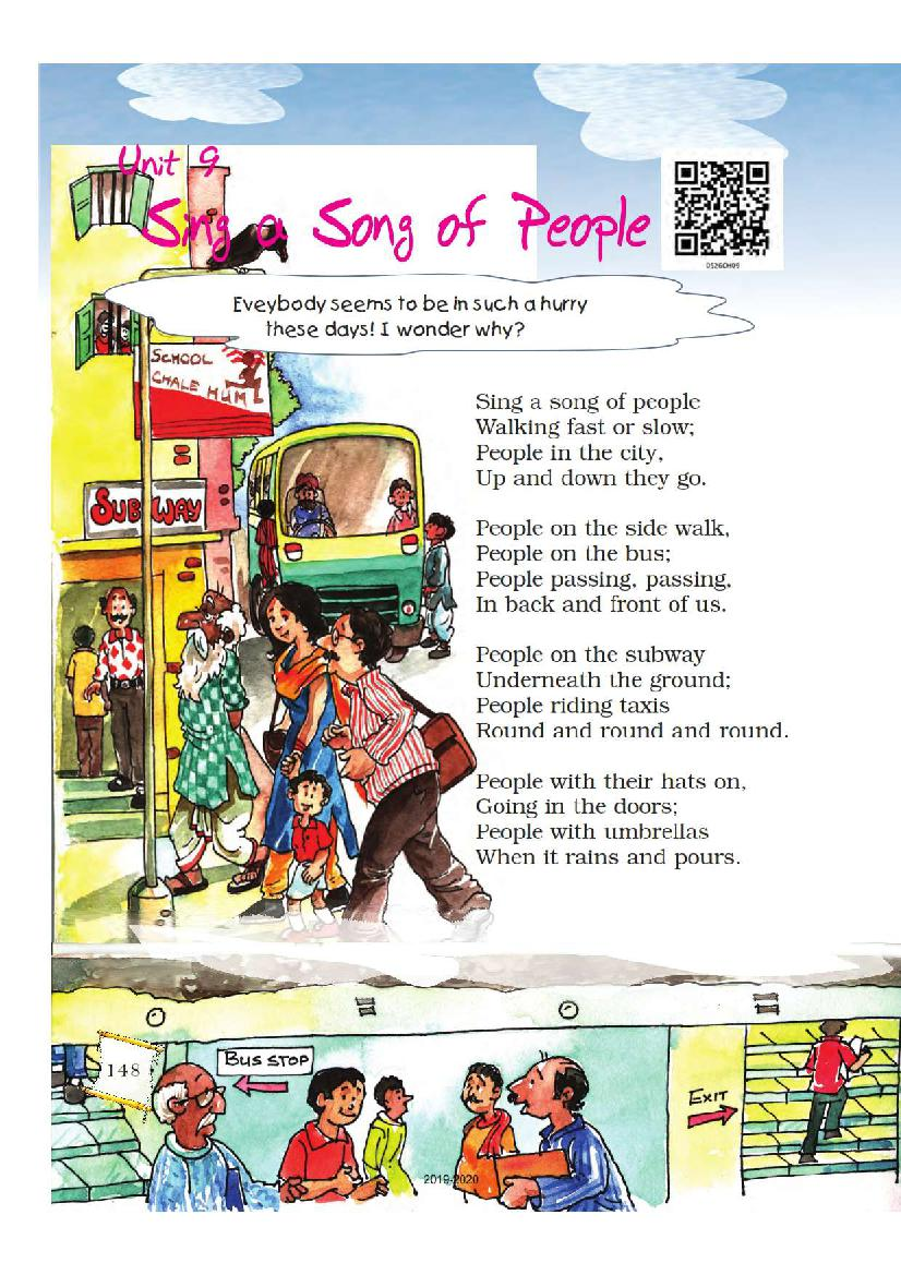 NCERT Book Class 5 English Chapter 9 Sing a Song of People