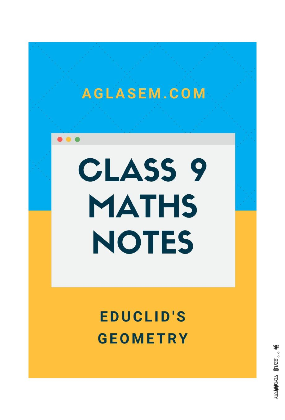 Class 9 Math Introduction to Euclids Geometry Notes, Important Questions & Practice Paper