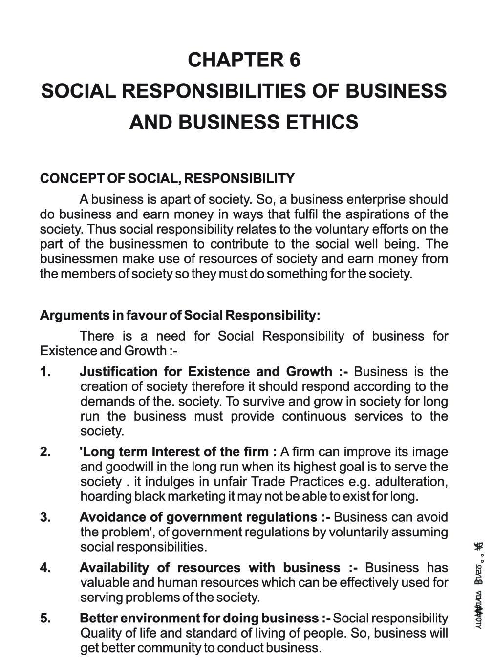 Class 11 Business Studies Notes for Social Responsibilities of