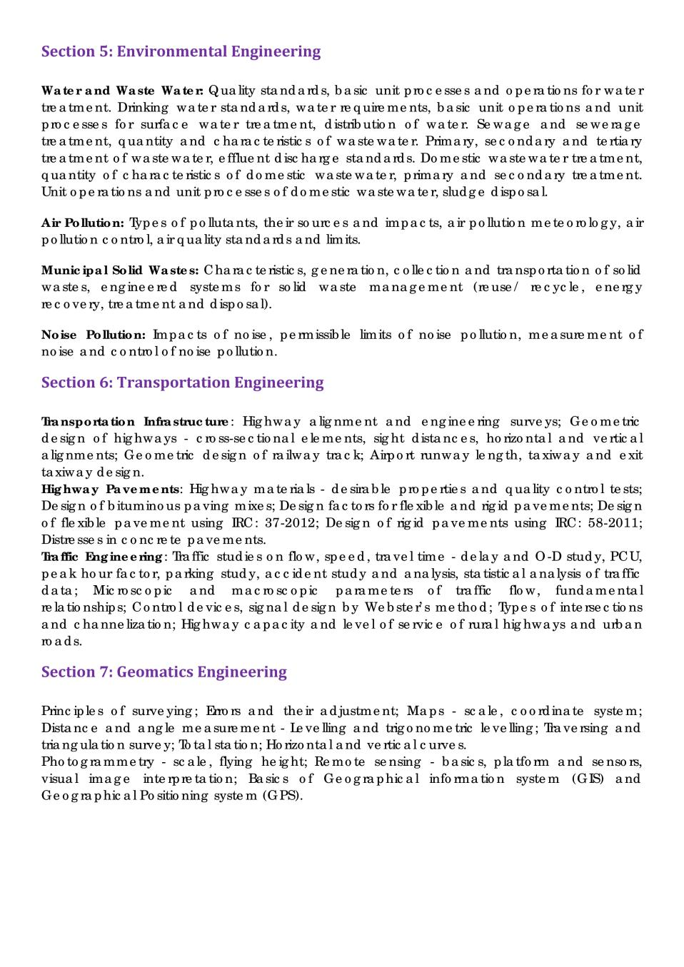 GATE Syllabus for Civil Engineering (CE) - GATE Syllabus | AglaSem