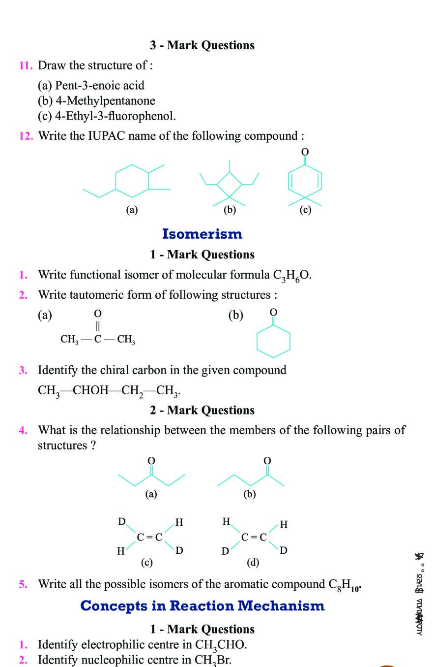 Class 11 Chemistry Notes For Organic Chemistry Some Basic Principles