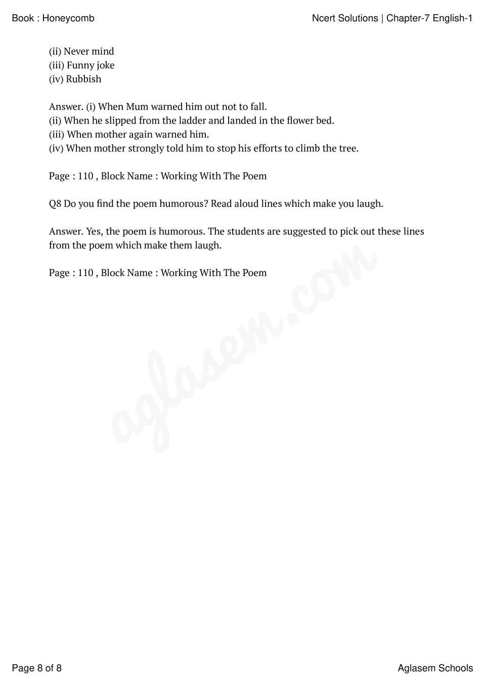 NCERT Solutions for Class 7 English Chapter 7 The Invention