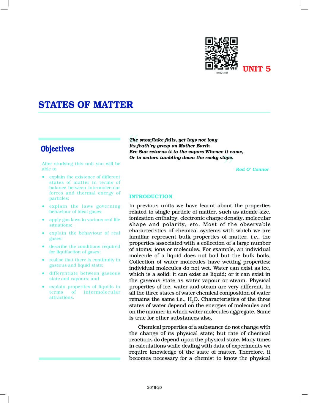 NCERT Book Class 11 Chemistry Chapter 5 States Of Matter