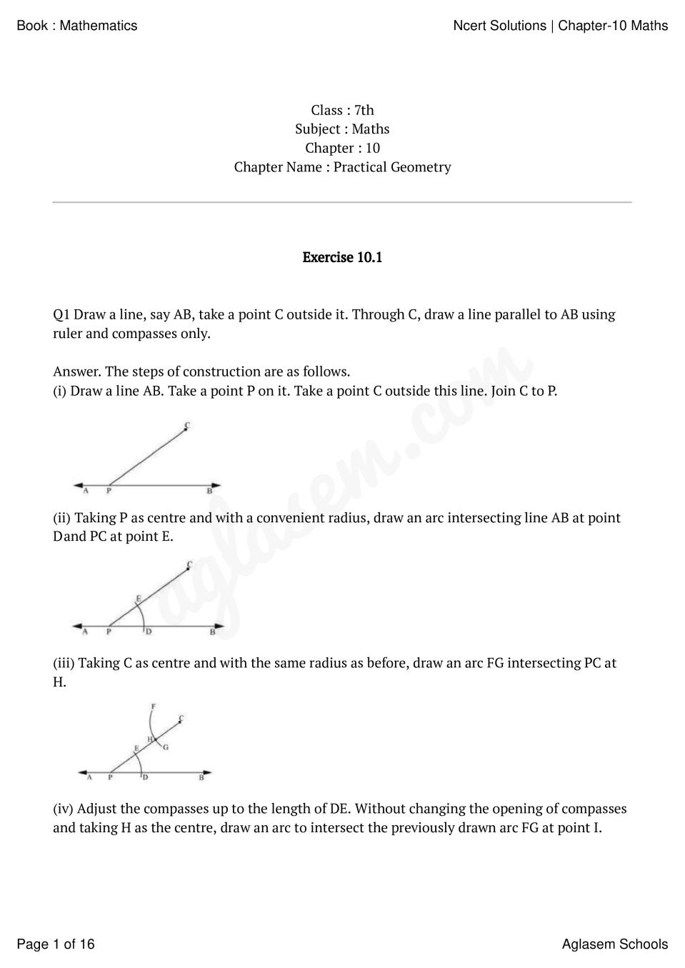 NCERT Solutions for Class 7 Maths Chapter 10 Practical