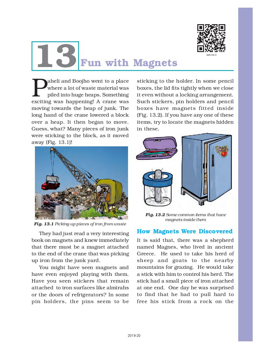 NCERT Book Class 6 Science Chapter 13 Fun with Magnets