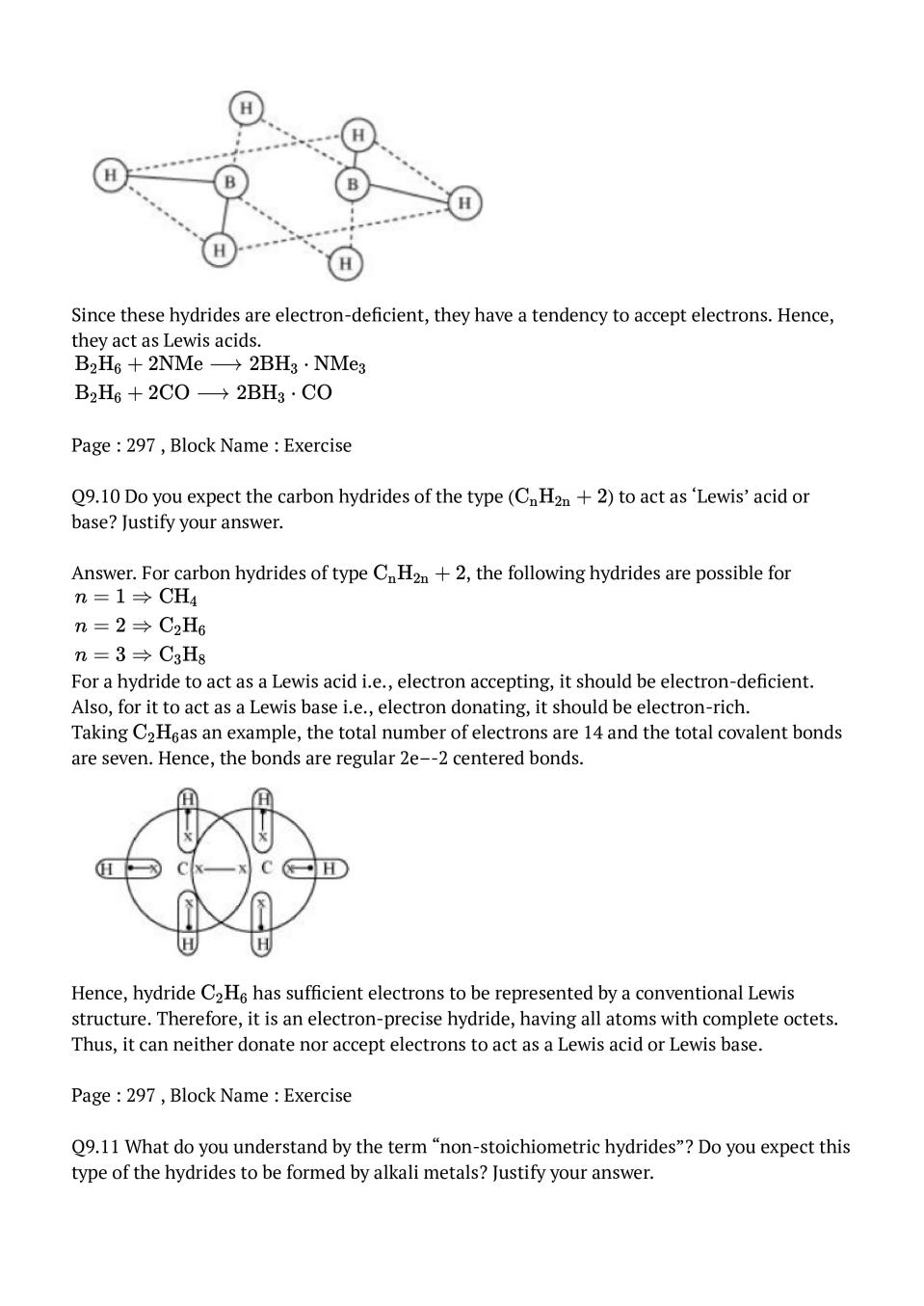 NCERT Solutions for Class 11 Chemistry Chapter 9 Hydrogen