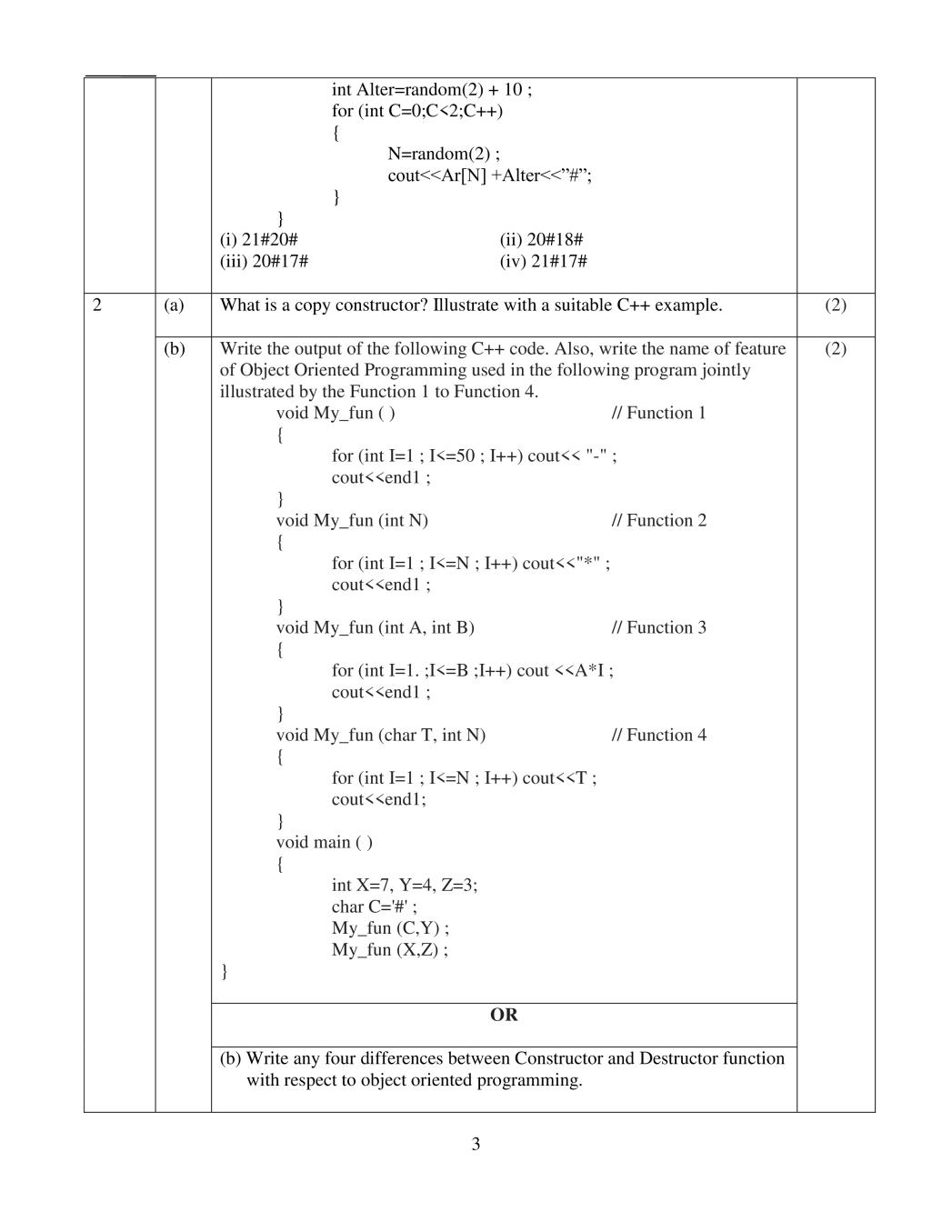 CBSE Sample Papers 2020 for Class 12 – Computer Science