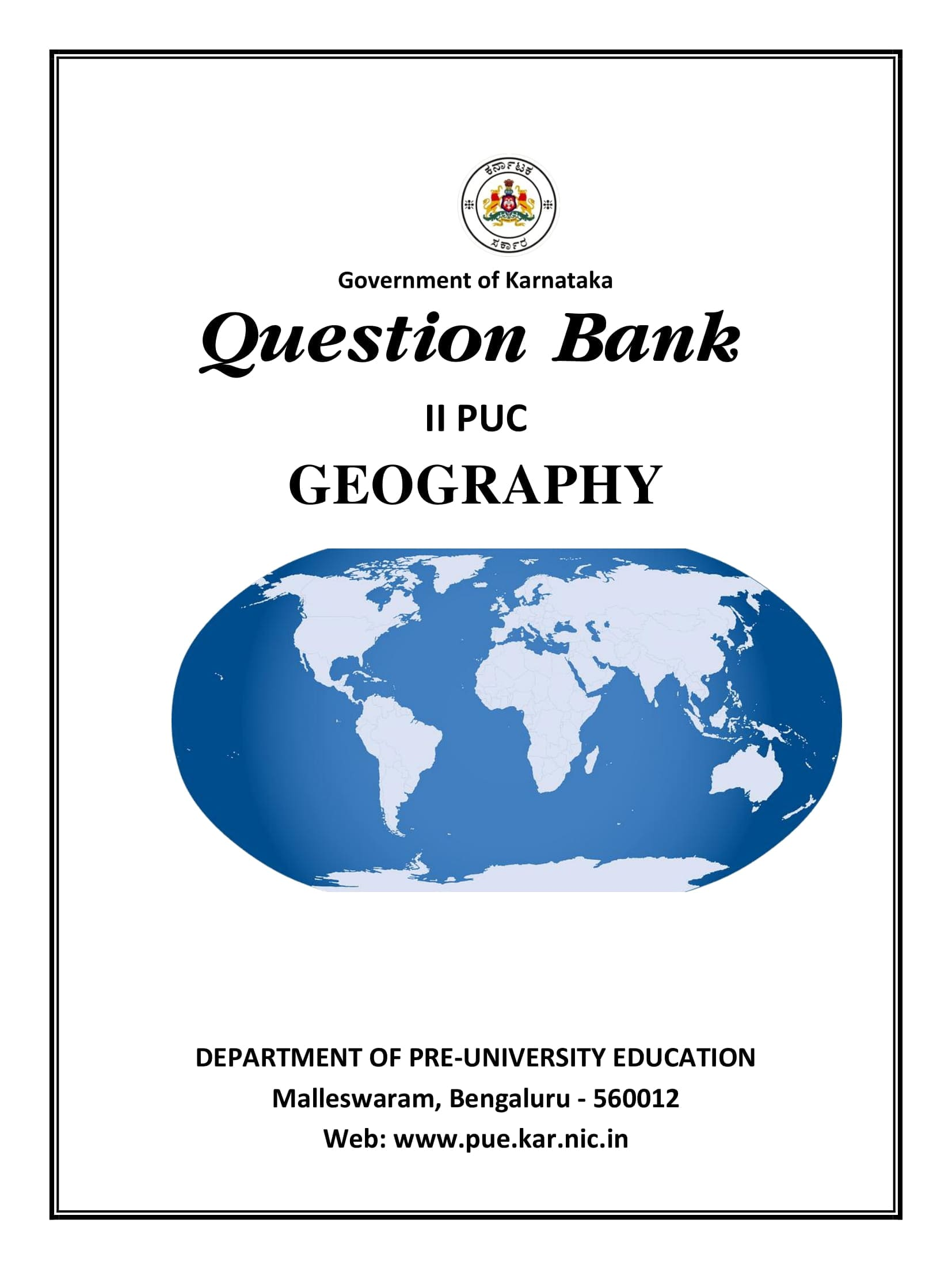 Karnataka 2nd PUC Question Bank for Geography