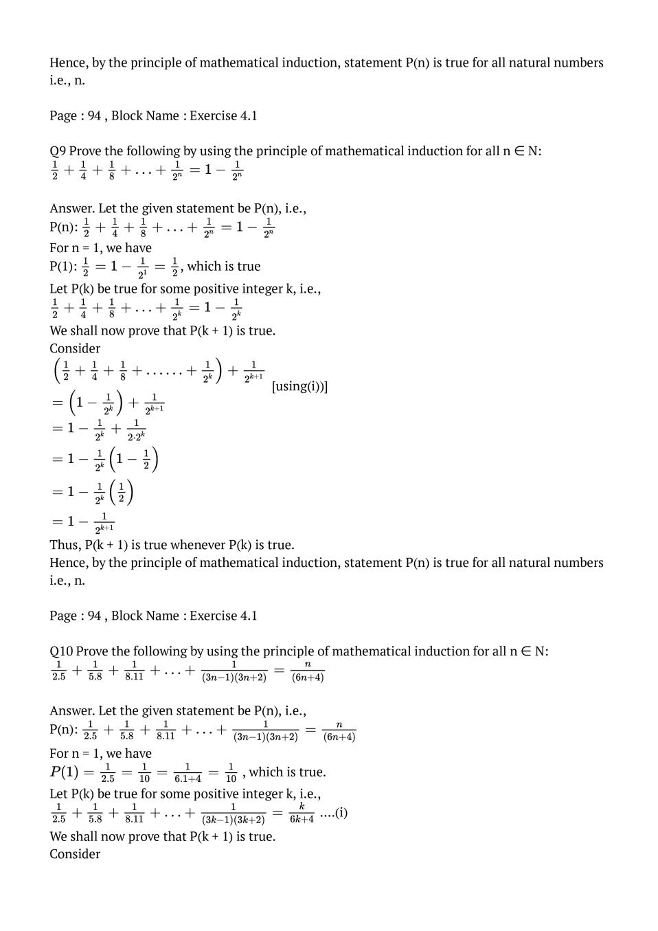NCERT Solutions for Class 11 Maths Chapter 4 Principle of