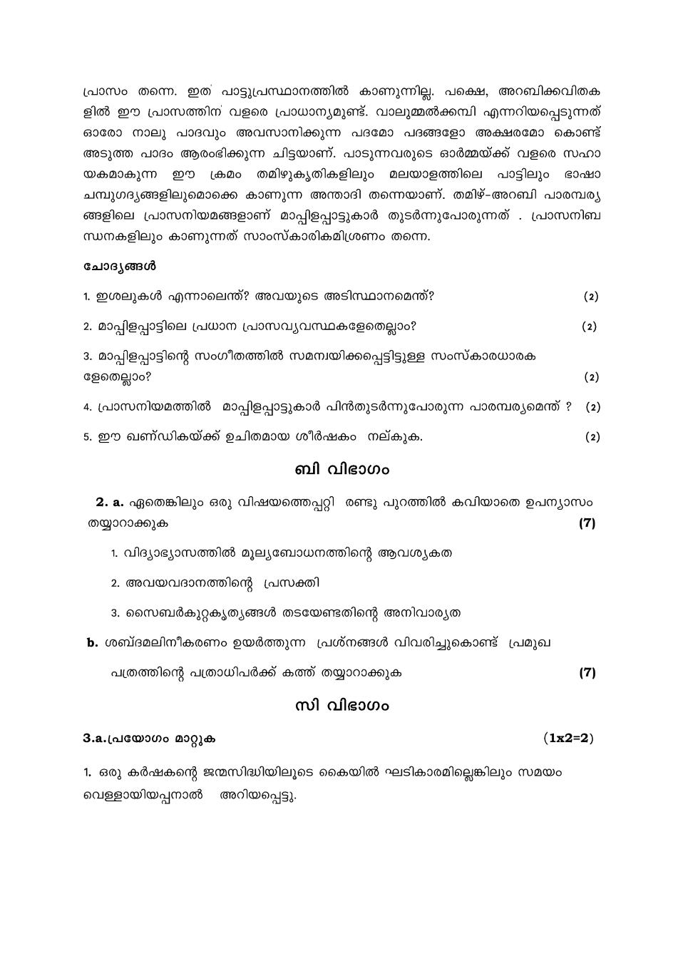 Student Formal Letter Format In Malayalam