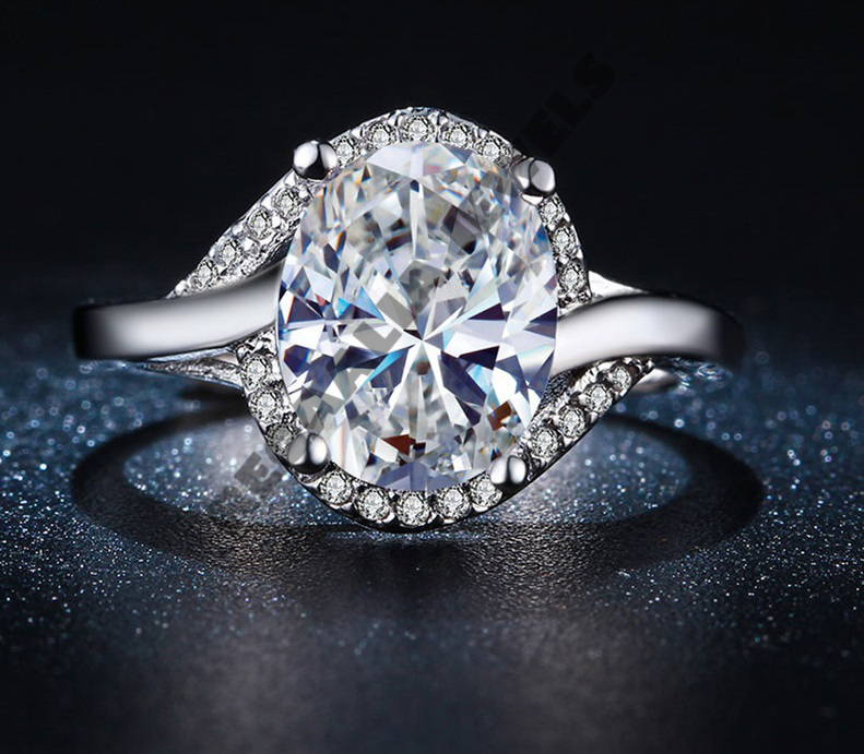 2-CT-Oval-Shape-VVS1-Diamond-Engagement-Wedding-Ring-For-Womens-All-Size-Free