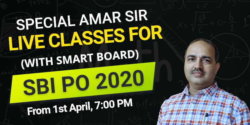 Special Amar Sir Live Classes for SBI PO 2020