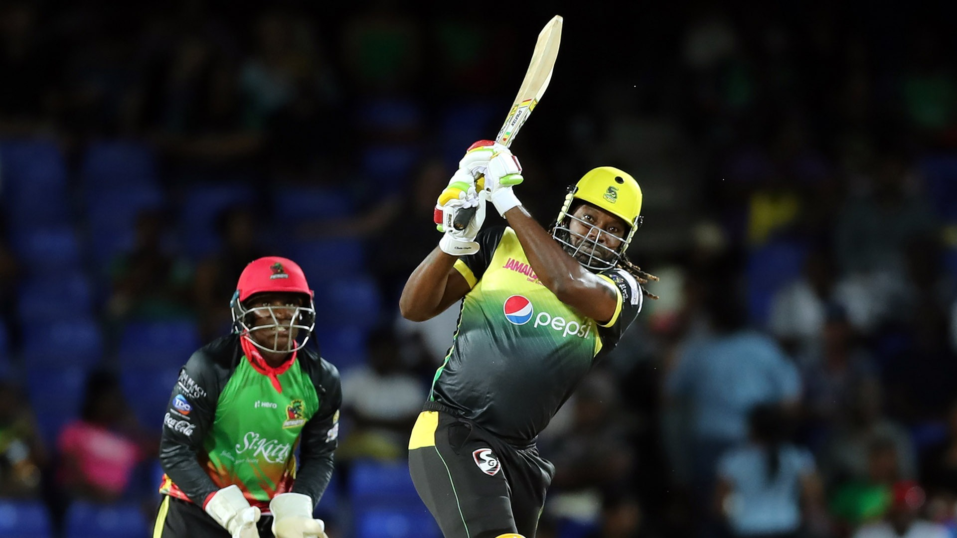 Chris Gayle scored a century for Jamaica Tallawahs in the CPL.