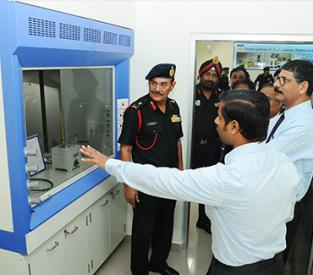 Inaugaration of POL Testing laboratory for Indian Army Showcase
