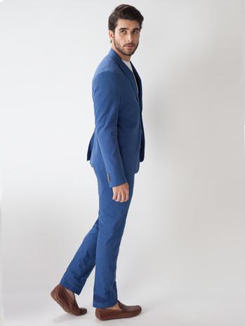 Buy Men\u0027s Suede Blue Color Suit @Tailorman Custom Made Ready