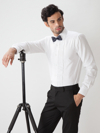 Buy Mens Readymade Tuxedo Shirts Online In India Tailorman