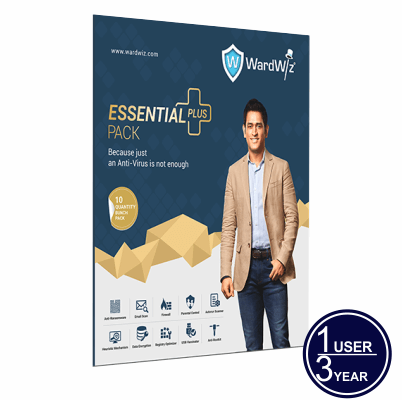 WardWiz ESSENTIAL PLUS Complete Internet security 1 USER 3 YEAR
