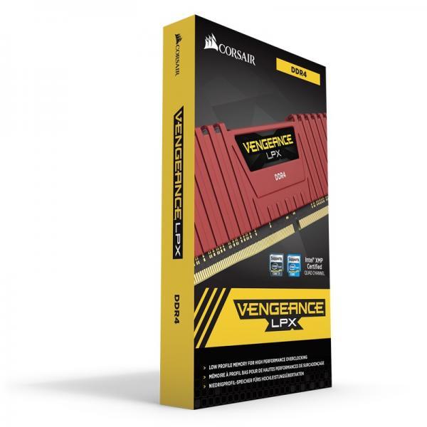 Corsair Vengeance LPX 8GB (8GBX1) DDR4 2400MHz Red