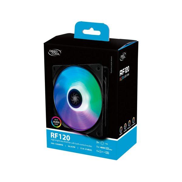 DEEPCOOL RF120 3 IN 1 RGB 120MM (TRIPPLE PACK)
