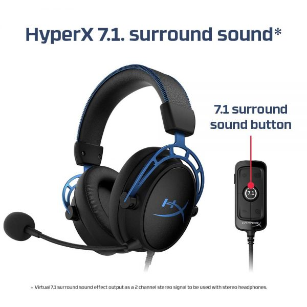 HyperX Cloud Alpha S 7.1 Gaming Headset (Blue)