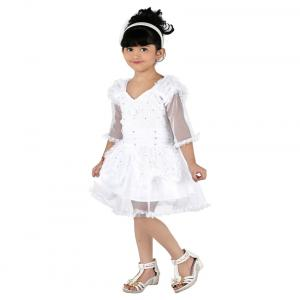Pinky White Satin Frock