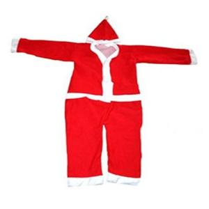 Kids Fancy Dress Christmas Party Wear Santa Claus Costume for Both Boys & Girls
