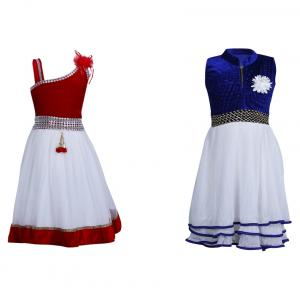 Crazeis Multicolour Frock - Combo Of 2