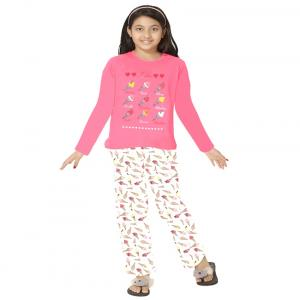 So Sweety Pink Nightsuit For Girls