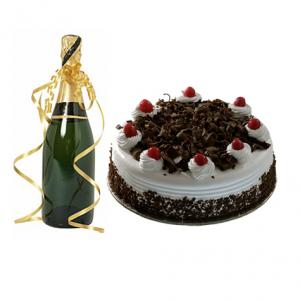 Champagne with 1 KG Cake