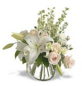 White Lily &  White Roses Combo