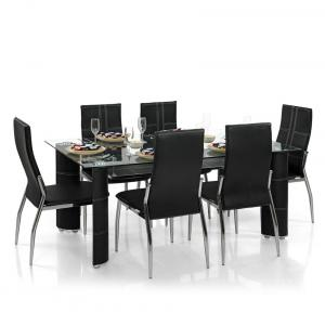 Dining Table Set With 6 Chairs - Modern