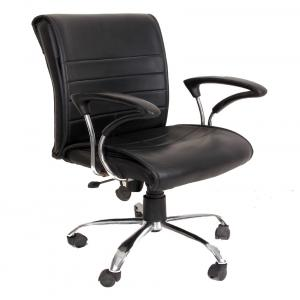 Leatherette Executive Chair In Black