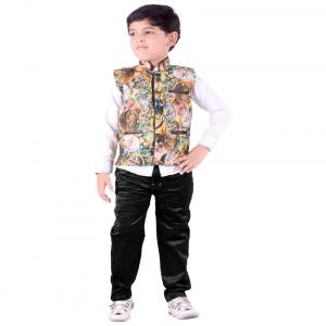 Jazzup Multicolour Indo Western Suit