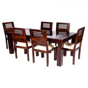 Solid Wood 6 Seater Dining Set