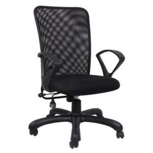 Tn Stark Industries Fabric And Steel Black Finish Office Chairs In Black