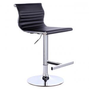 Exclusive Furniture Black Leatherette Kitchen Bar Stool