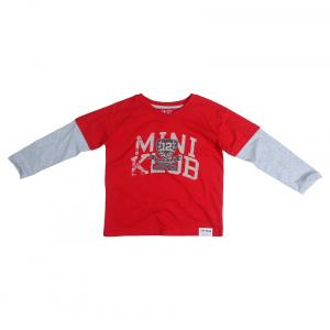 Fs Mini Klub Long Sleeves Red Color V Neck T-Shirts For Kids