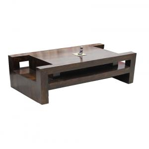 Junglewood Brown Solid Sheesham Wood Coffee And Center Table