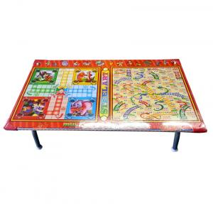 Multicolour Gaming Wood Bed Table