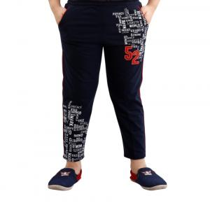 Fizzi Navy Trackpants For Boys