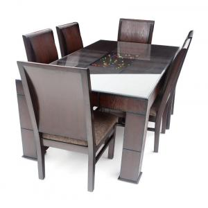 Looking Good Furniture Chairs & Legs With Teak Wood & Top Block Board & Teak Venner Finish Dining Se