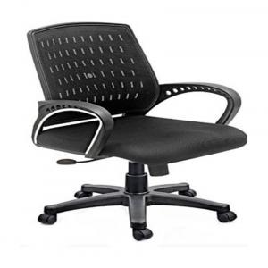 Marc Track Arms Metal And Plastic Office Chairs - Black