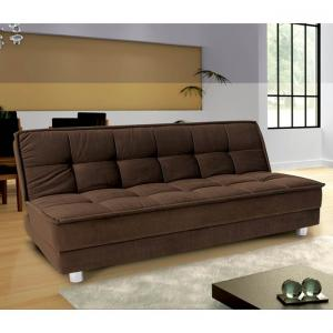 Furny Gaiety Luxurious Sofa Cum Bed With Sunrise Fabric Brown