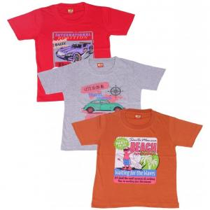 Provalley Pack of 3 Multi Colors T-Shirt For Kids