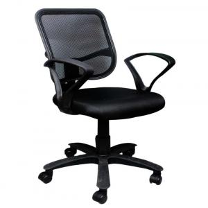 Square Net Back Office Chair In Black