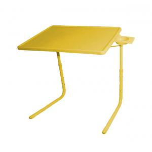 Hlp Yellow Table Mate Ii 2 Folding Portable Adjustable Table With Cup Holder